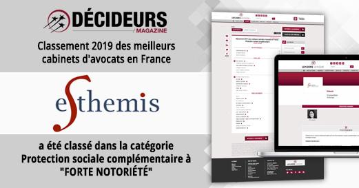 Classement 2019 des meilleurs cabinets d'avocats en France