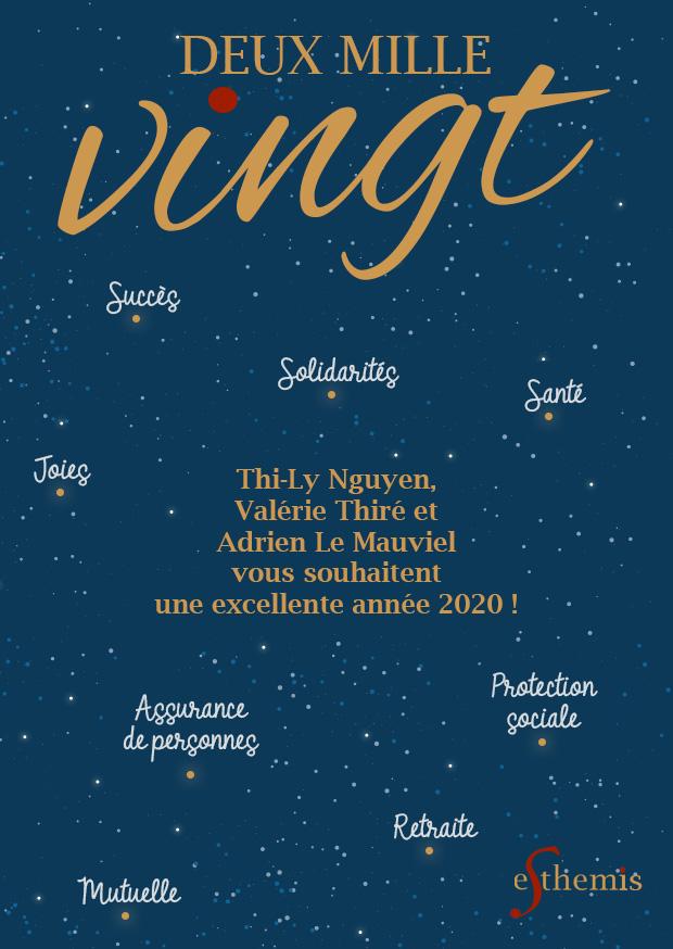 Thi-Ly Nguyen, Valérie Thiré et Adrien Le Mauviel vous souhaitent une excellente année 2020 !